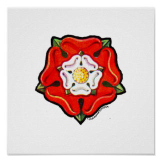 Single Tudor Rose Poster