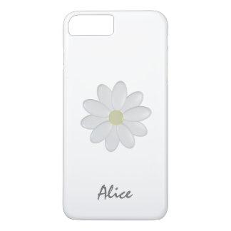 Single White Flower Custom Name iPhone 7 Plus Cae iPhone 8 Plus/7 Plus Case