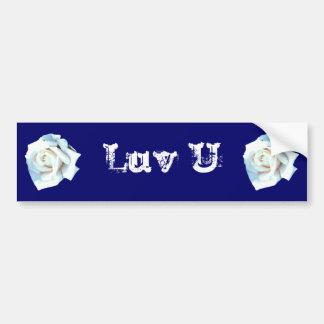 Single White Rose Bumper Stickers