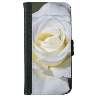 Single white rose iphone wallet case