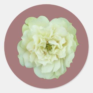 Single White Tea Rose Stickers