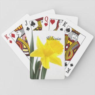 Single Yellow Narcissus Daffodil Card Deck