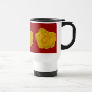 Single Yellow Rose 15 Oz Stainless Steel Travel Mug