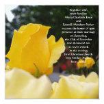 Single Yellow Rose Wedding Invitations