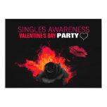 Singles Awareness Valentine's Party Invitations