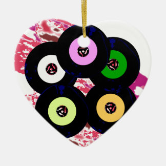 Singles Collection Jazz Background Ceramic Heart Decoration