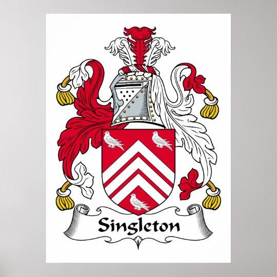 Singleton Family Crest Poster