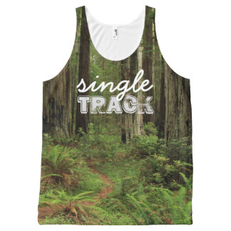 singleTRACK #trailrunner All-Over Print Tank Top