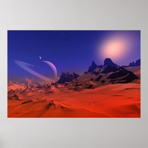 Singular ambience - space art poster