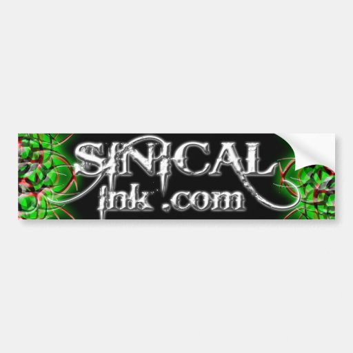 Sinical Ink.com Black and White Bumper Sticker