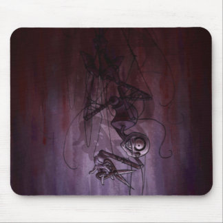 Sinister Descent, Creepy Puppet Cutting Strings Mouse Mat
