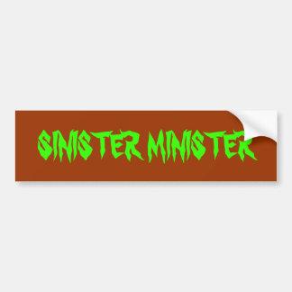 SINISTER MINISTER BUMPER STICKER