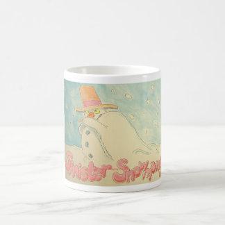 Sinister Snowman Christmas Design Coffee Mug