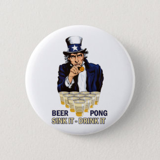 Sink it Drink it Abe Lincoln 6 Cm Round Badge