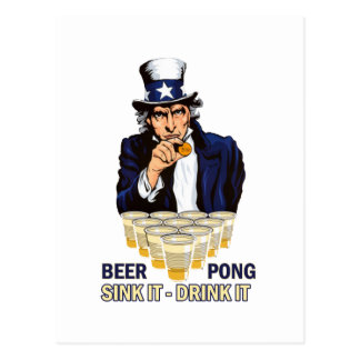 Sink it Drink it Abe Lincoln Postcard