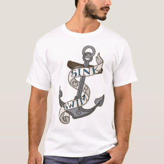 Sink or Swim Anchor | Color & Bleach Outline T-Shirt