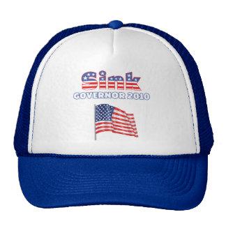 Sink Patriotic American Flag 2010 Elections Mesh Hat
