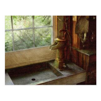 Sink - Water Pump Postcard