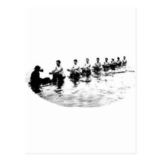 Sinking 8 Man Crew Rower Postcards