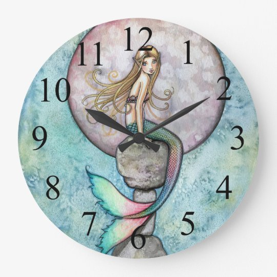 Sinking Moon Mermaid Wall Clock