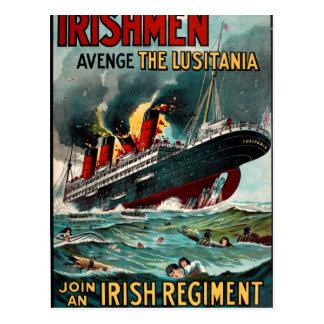 Sinking of the Lusitania_Propaganda Poster Postcard