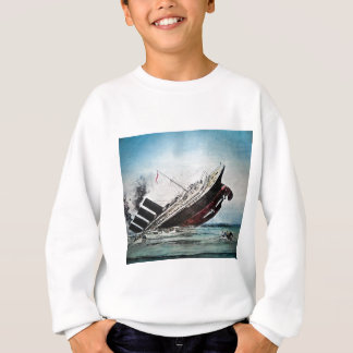Sinking of the Titanic Magic Lantern Slide Sweatshirt
