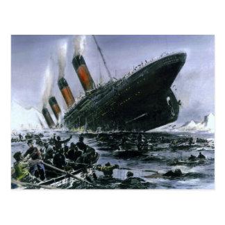 Sinking RMS Titanic Postcard