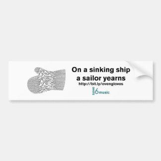 Sinking Ship JDOG sticker (quantity 1) Bumper Sticker