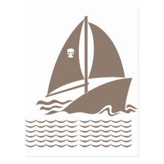 Sinking Ship Pirate Postcard
