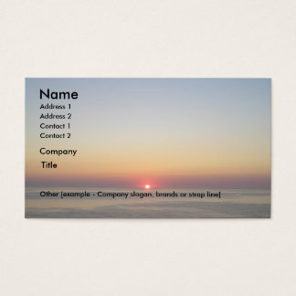 Sinking Sun Business Card