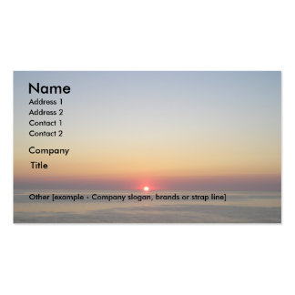 Sinking Sun Pack Of Standard Business Cards