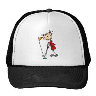 Sinking The Putt From The Green Bag Trucker Hats