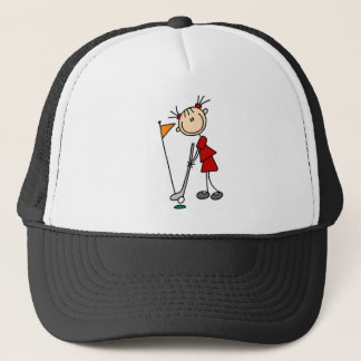 Sinking The Putt From The Green Bag Trucker Hat
