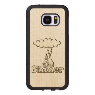 Sinner Illustration Wood Samsung Galaxy S7 Case