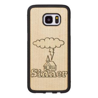 Sinner Illustration Wood Samsung Galaxy S7 Edge Case