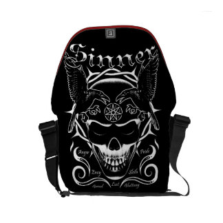 Sinner Skull Messenger Bag