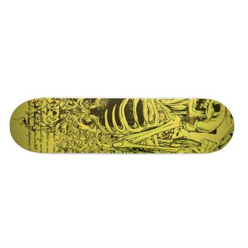 sinners row custom skateboard