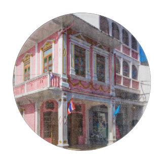 Sino Portuguese architecture in Phuket Town Cutting Board