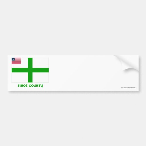 Sinoe County Flag with Name Bumper Sticker