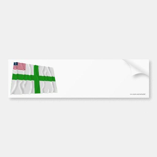 Sinoe County Waving Flag Bumper Sticker