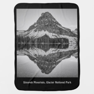 Sinopah Mountain Reflection Design Baby Blanket