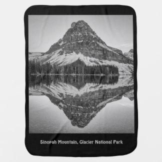 Sinopah Mountain Reflection Design Receiving Blankets