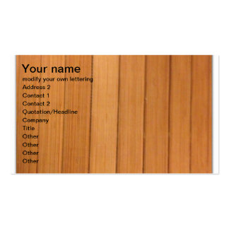 sinple verticle wood business card