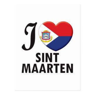 Sint Maarten Love Postcard