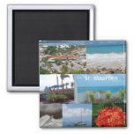 Sint Maarten-Saint Maarten Photo Collage Square Magnet