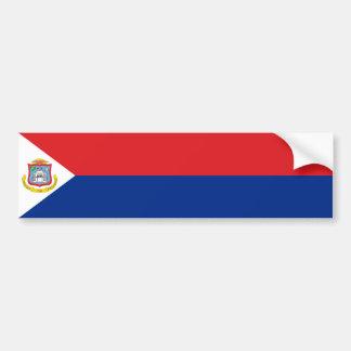 Sint Maarten, Saint Martin Flag, Dutch/Netherlands Bumper Sticker