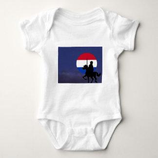 sint with Netherlands maan.jpg Baby Bodysuit