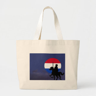 sint with Netherlands maan.jpg Large Tote Bag