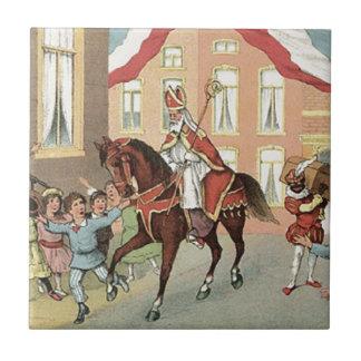 Sinterklaas Dutch St. Nick Vintage St. Nicholas Tile