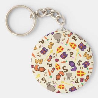 Sinterklaas Feest Basic Round Button Key Ring